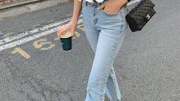 """Kiểu áo """"bánh bèo động trời"""" được gái Hàn xem như chân ái, mix đồ hiện đại mà không thắm mới hay"""