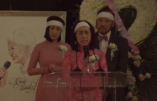 Lễ tang danh ca Thái Thanh: Chỉ có người thân, công chúng chia buồn qua livestream, Ý Lan gục bên quan tài mẹ - Ảnh 3.