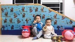 Gom hộp sữa, lốp xe cũ, bố mẹ Hà Nội tự làm cầu trượt, xích đu cho con chơi thỏa thích ngay trong nhà