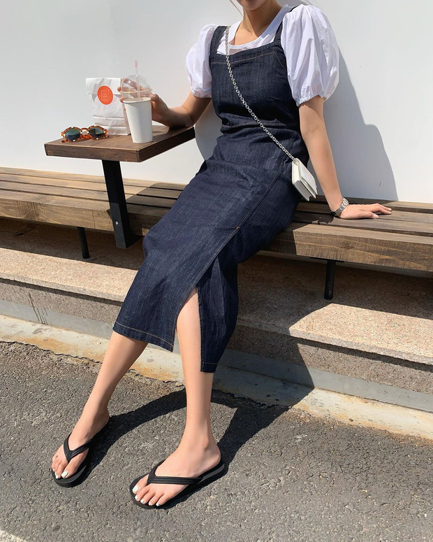 Sao phải khổ công dùng app kéo chân, chị em cứ diện kiểu váy này là cặp chân sẽ được kéo dài ảo diệu - Ảnh 10.