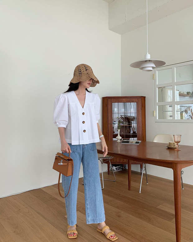 10 kiểu áo mix cùng quần ống rộng đẹp thần sầu, hè diện mát mẻ mà vẫn trendy nàng nào cũng nên copy - Ảnh 10.
