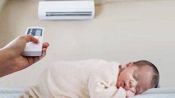 Những điều nên và không nên khi cho trẻ sơ sinh nằm điều hoà