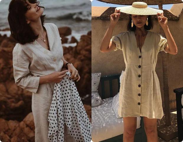 Ngoài váy lụa, phụ nữ Pháp còn mê mẩn váy áo thô đũi mộc mạc, dung dị mà phóng khoáng - Ảnh 3.