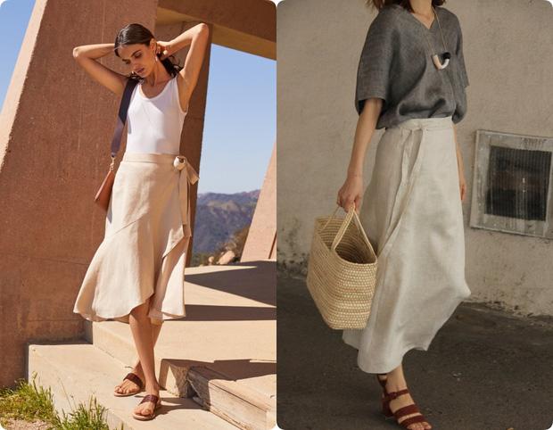 Ngoài váy lụa, phụ nữ Pháp còn mê mẩn váy áo thô đũi mộc mạc, dung dị mà phóng khoáng - Ảnh 10.