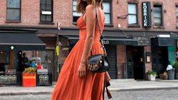 Thời trang cam đất vẫn đang là màu trend thời thượng bất chấp tiết trời mùa hè