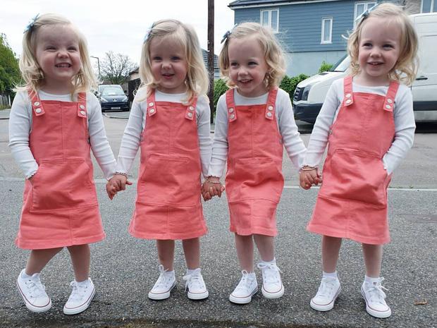 4 bé gái trong ca sinh tư giống hệt nhau vô cùng hiếm trên thế giới với tỷ lệ chỉ 1/70 triệu ca sau 3 năm đã có những thay đổi gây ngỡ ngàng - Ảnh 13.