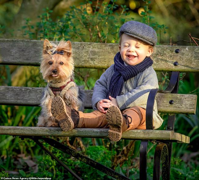 Tan chảy với những hình ảnh siêu cấp đáng yêu giữa cậu bé 2 tuổi và chú chó cưng - Ảnh 27.