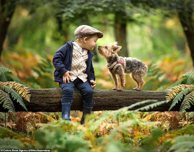 Tan chảy với những hình ảnh siêu cấp đáng yêu giữa cậu bé 2 tuổi và chú chó cưng - Ảnh 20.