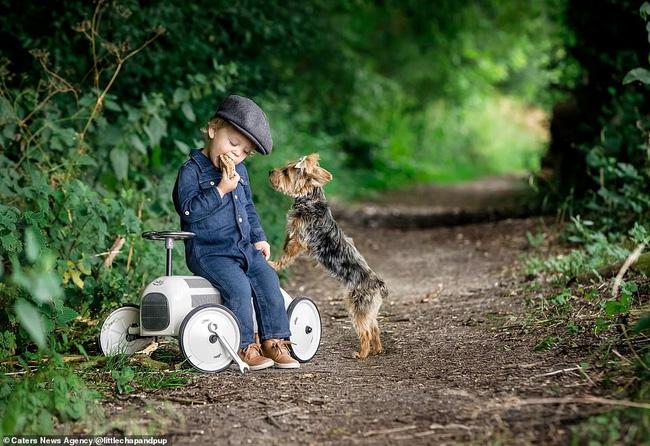 Tan chảy với những hình ảnh siêu cấp đáng yêu giữa cậu bé 2 tuổi và chú chó cưng - Ảnh 3.