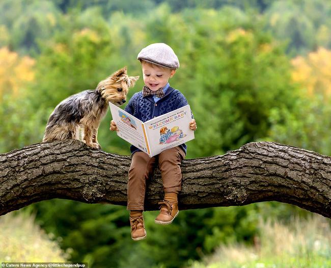 Tan chảy với những hình ảnh siêu cấp đáng yêu giữa cậu bé 2 tuổi và chú chó cưng - Ảnh 5.