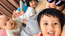 Chăm 4 con nhỏ sàn sàn tuổi nhau, đây là cách MC Minh Trang vừa làm tốt công việc vừa dạy con thật cừ
