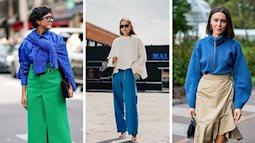 """Xanh cổ điển (Classic blue) – Tông màu chủ đạo của năm 2020 đang """"chiếm lĩnh"""" sàn diễn và cả street style thế giới"""