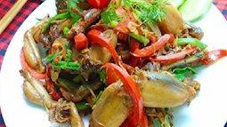 Vào bếp với món ếch xào sả ớt cay nồng thơm ngon
