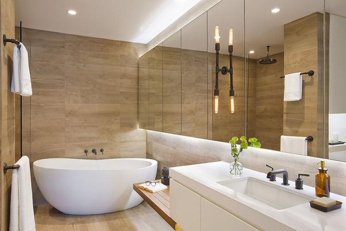 Những căn phòng tắm bằng gỗ khiến bạn chẳng thể nào làm ngơ - Ảnh 3.