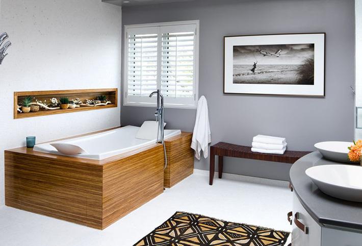 Những căn phòng tắm bằng gỗ khiến bạn chẳng thể nào làm ngơ - Ảnh 8.