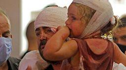 Những hình ảnh thương tâm tại hiện trường vụ nổ kinh hoàng đang làm chấn động thủ đô của Liban