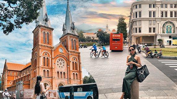 """Ngỡ ngàng từng góc ảnh tại khu đại lộ Nguyễn Huệ - Đồng Khởi - Lê Lợi thời gian gần đây """"lột xác"""", trở thành nơi chụp ảnh, vui chơi miễn phí xịn nhất Sài Gòn"""