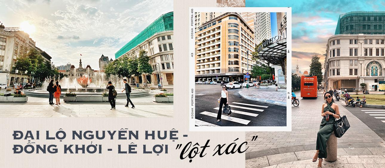 Ngỡ ngàng từng góc ảnh tại khu đại lộ Nguyễn Huệ - Đồng Khởi - Lê Lợi đẹp như London và chỉ điểm các nơi view
