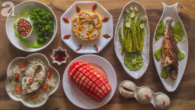 Mâm cơm cuối tuần 7 món ngon đẹp dễ nấu mẹ nào cũng trổ tài làm được - Ảnh 1.