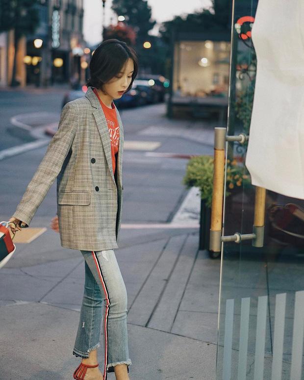 Hot từ năm ngoái nhưng dự là năm nay, blazer kẻ chanh sả vẫn là item được hội sành mặc mê mệt - Ảnh 5.