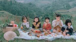 """Bộ ảnh """"nhà có 5 nàng tiên"""" chụp ở Mù Cang Chải đẹp như tranh khiến người lớn cũng phải mê mẩn"""