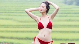 Hoa hậu Phạm Lan Anh khoe dáng nuột nà