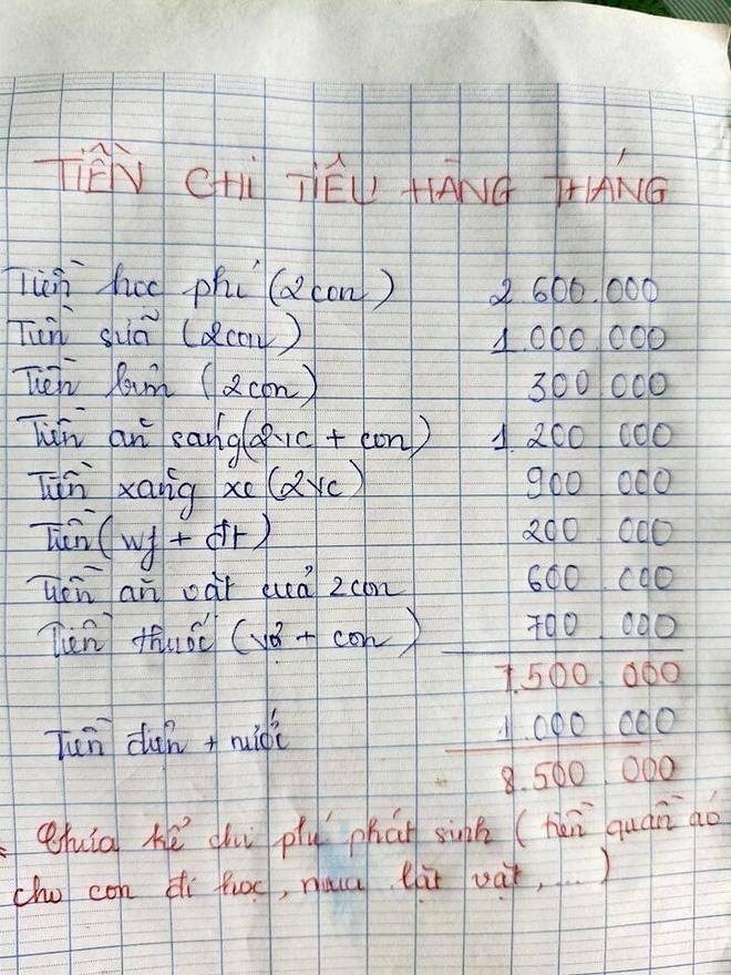 """Lương 10 triệu đồng/tháng, chồng luôn chất vấn """"tiền đi đâu hết"""", vợ đưa bảng chi tiêu của cả nhà khiến tất cả đều nể - Ảnh 2."""