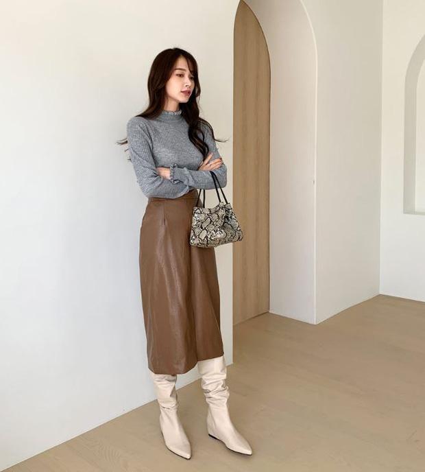 Đến cả đôi chân cột đình cũng thon gọn nhẹ nhàng nhờ 5 kiểu chân váy độc quyền cho ngày lạnh - Ảnh 15.