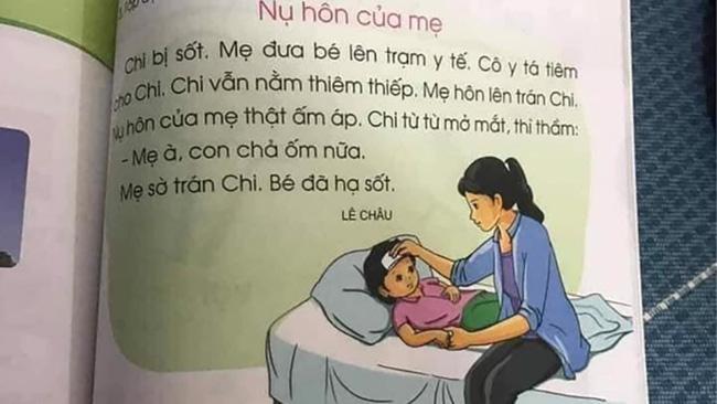 Thêm một bài tập đọc trong sách tiếng Việt 1 khiến hội phụ huynh chia hai