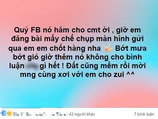 Facebook chặn bình luận,