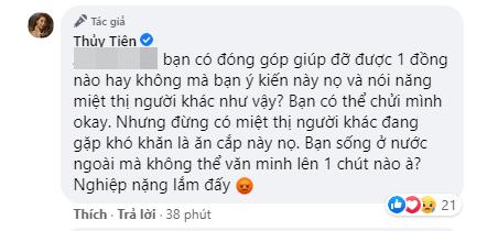 """Bị miệt thị vì tài trợ học phí cho 2 học sinh miền Trung, Thủy Tiên gay gắt đáp trả: """"Không phải cứ bỏ ra 50 - 100 nghìn là có quyền xúc phạm người khác"""" - Ảnh 5."""