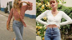 Áo blouse   quần jeans: Combo giúp nàng công sở trông sang như gái Pháp trong ngày Thu