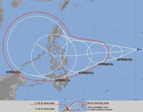 Khi bão số 9 còn đang cuồng nộ với gió giật kinh hoàng, dự báo sắp xuất hiện bão số 10 - Ảnh 1.