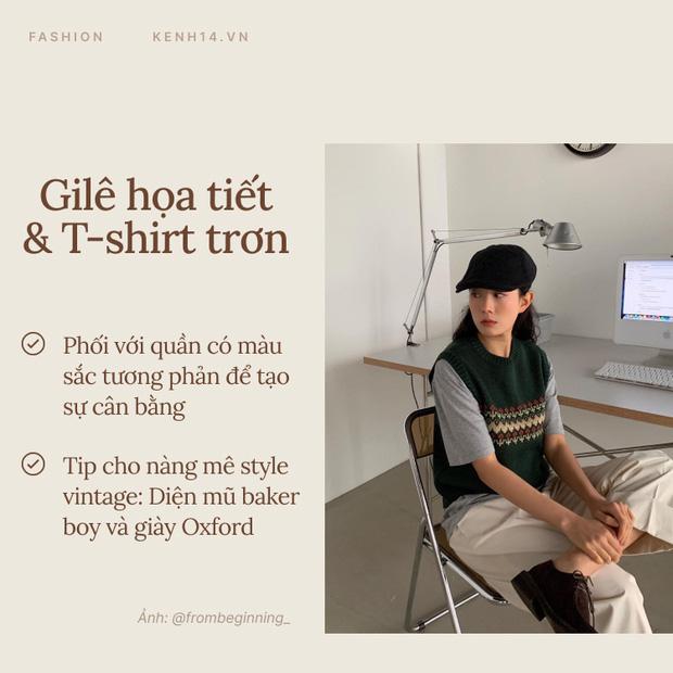 7 công thức bạn nên ghim để diện gilê len chuẩn chỉnh như gái Hàn - Ảnh 3.