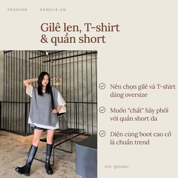 7 công thức bạn nên ghim để diện gilê len chuẩn chỉnh như gái Hàn - Ảnh 5.