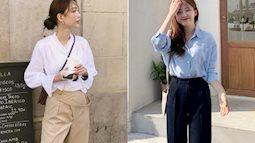 Hội con gái Hàn hay mix quần ống suông với 3 kiểu áo này để ghi điểm sành điệu và sang xịn nhất