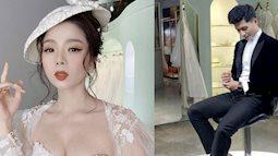 Dính tin đồn hẹn hò Lệ Quyên, Lâm Bảo Châu bất ngờ đăng ảnh thử đồ cưới kèm chú thích 'Rồi mai anh lại là chú rể'