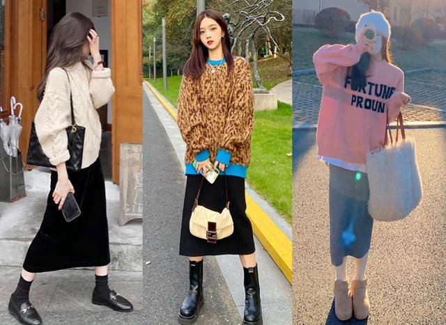 4 típ diện áo len và chân váy  - Ảnh 1.