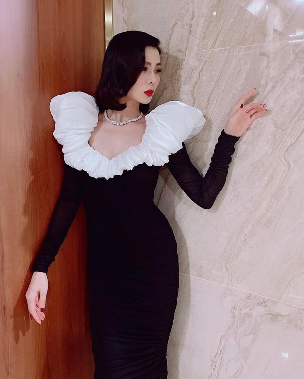 Sao Việt đụng chan chát váy áo cổ phồng: Tóc Tiên lên đồ tôn dáng nhưng khét nhất là body đồng hồ cát của Lệ Quyên - Ảnh 1.
