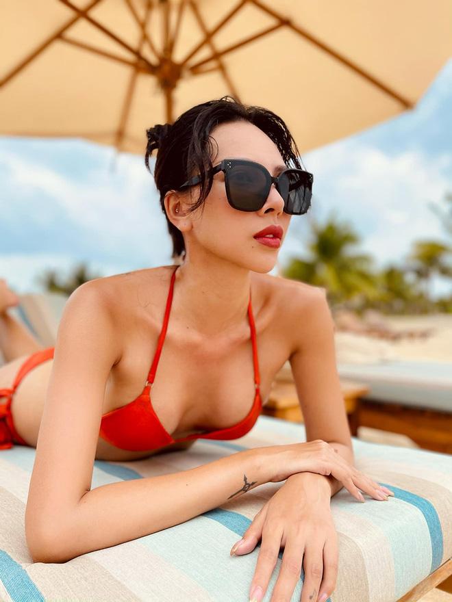 Vẻ nóng bỏng tuổi 33 của nữ siêu mẫu bị đồn yêu hoa hậu Kỳ Duyên - Ảnh 3.