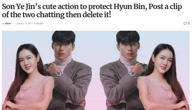 Để bảo vệ Hyun Bin trước truyền thông, Son Ye Jin đã có hành động đáng yêu này? - Ảnh 1.