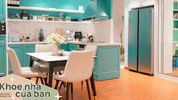 Căn hộ 80m² màu xanh dịu dàng, ngập tràn cảm giác ấm cúng ở Hà Nội