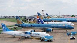 Điều chỉnh hàng loạt chuyến bay tới sân bay Nội Bài vì thời tiết xấu