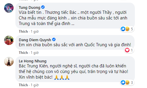 Nhạc sĩ Quốc Trung có chia sẻ đầu tiên sau khi bố ruột - NSND Trung Kiên qua đời - Ảnh 2.