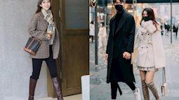 Street style Châu Á: Các cặp đôi chiếm spotlight nhờ cách mix đồ ăn ý, hội chị em chơi độc chiêu khi diện boots đùi