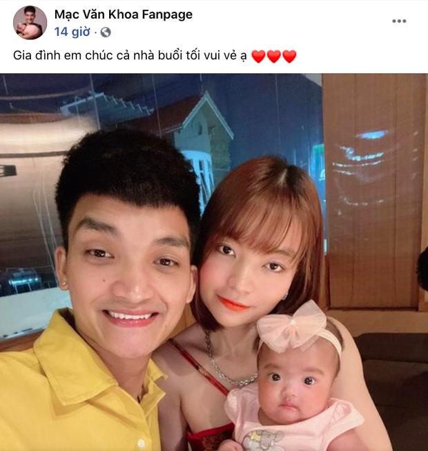 Mạc Văn Khoa khoe ảnh gia đình hạnh phúc, netizen xỉu up xỉu down với gương mặt tấu hài siêu cưng của con gái nam diễn viên - Ảnh 2.