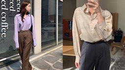 """5 mẫu áo sơ mi đang được diện nhiều nhất: Kiểu nào cũng dễ mặc, mix đồ đơn giản cũng """"auto"""" sang xịn"""