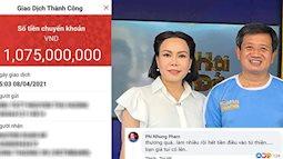 Khán giả xúc động khi Việt Hương đặt cọc 1 tỷ đồng xe cứu thương tặng ông Đoàn Ngọc Hải