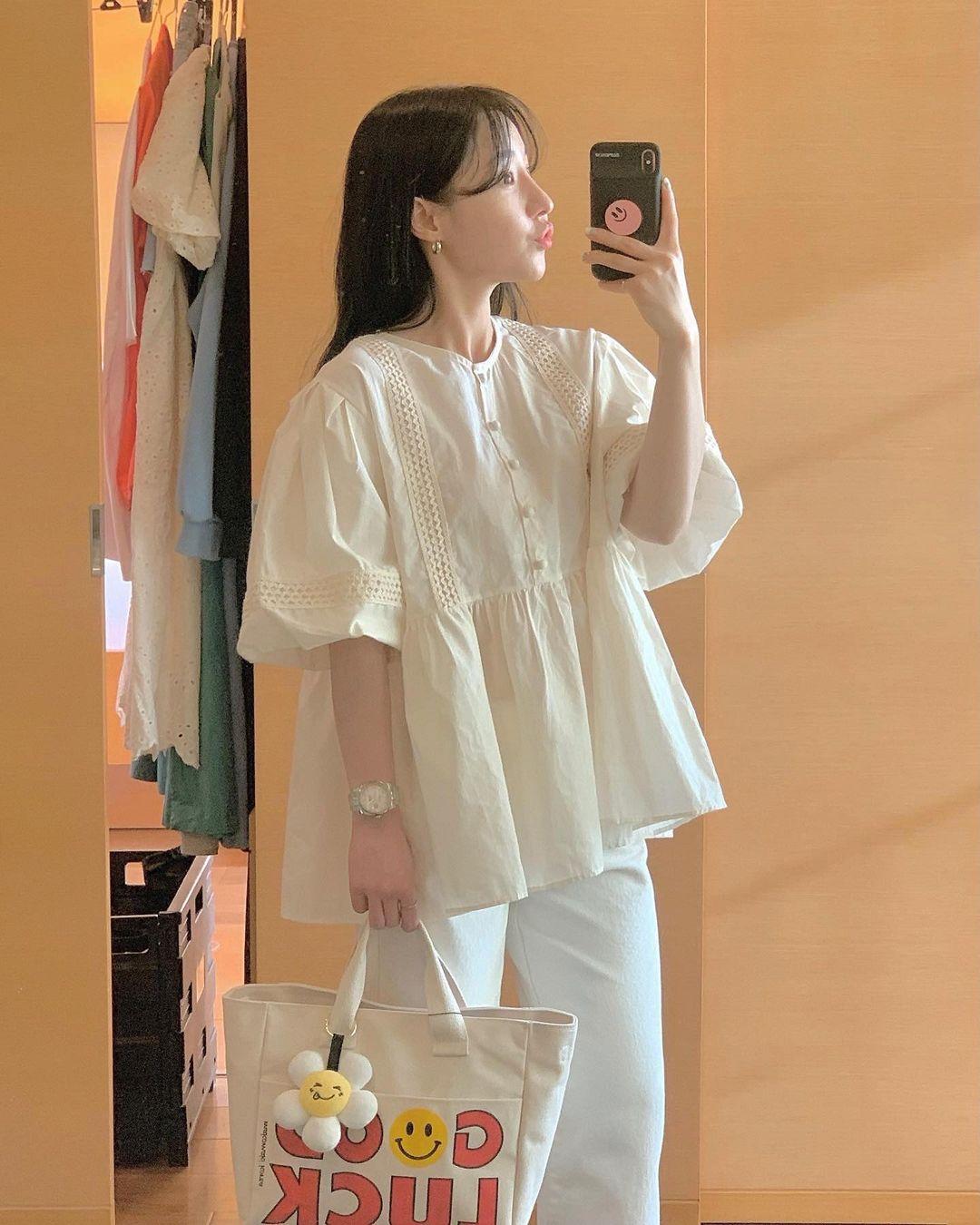 Có 1 mẫu áo mà dàn gái Hàn đang nâng như nâng trứng, diện lên đảm bảo có ảnh đẹp post Instagram sống ảo! - Ảnh 5.