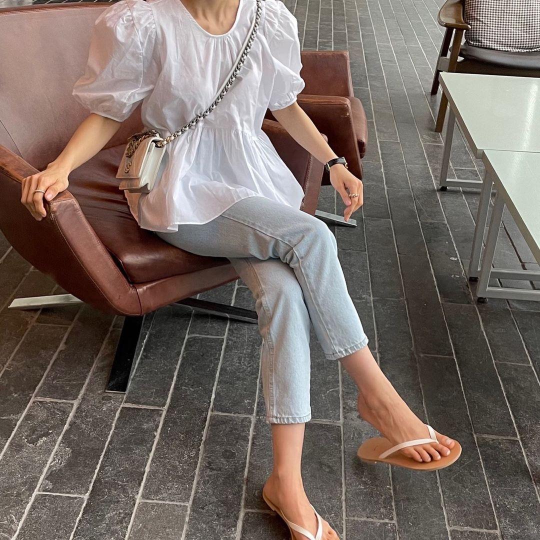 Có 1 mẫu áo mà dàn gái Hàn đang nâng như nâng trứng, diện lên đảm bảo có ảnh đẹp post Instagram sống ảo! - Ảnh 4.